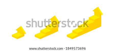 Business success - set of isometric vector vertical web banners Stock photo © Decorwithme
