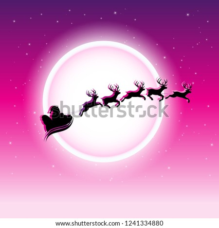 silhouette · illustration · battant · Noël · rennes - photo stock © cidepix