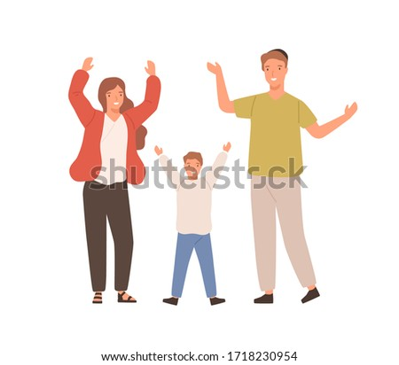 Jewish family isolated vector illustration mother, father, chil Stock photo © NikoDzhi