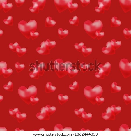 Greeting patter with valentines hearts in a color of the year 2019 Living Coral pantone on a white b Stock photo © artjazz
