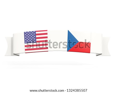Bandeira dois praça bandeiras Estados Unidos República Checa Foto stock © MikhailMishchenko