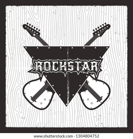 Poster grunge print ontwerpsjabloon silhouet Stockfoto © JeksonGraphics