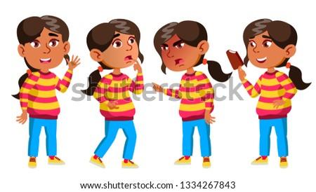 kız · anaokulu · çocuk · duygular · ayarlamak · vektör - stok fotoğraf © pikepicture