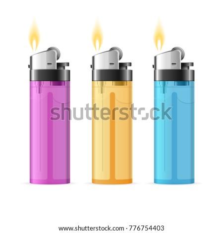 Isqueiro vetor cigarro luz equipamento 3D Foto stock © pikepicture