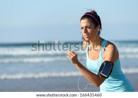 深刻 小さな スポーツ 女性 屋外 ビーチ ストックフォト © deandrobot