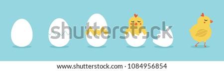Cute Blauw vogel ei vraagteken Stockfoto © hittoon