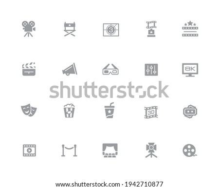 multimedia icons 32 pixels icons white series stock photo © palsur