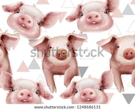 свинья · стиль · вектора · дизайна · продовольствие · кухне - Сток-фото © frimufilms