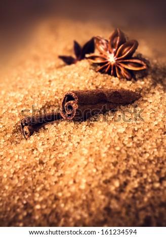 Barna sétapálca cukor fahéj csillag ánizs Stock fotó © marylooo