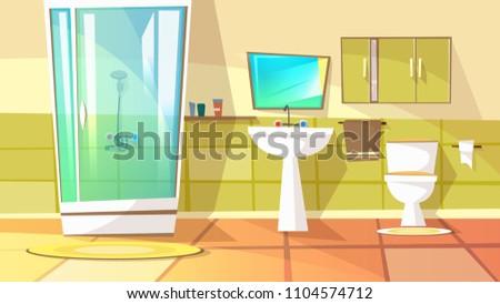 Modern banyo iç banyo duş vektör Stok fotoğraf © MarySan