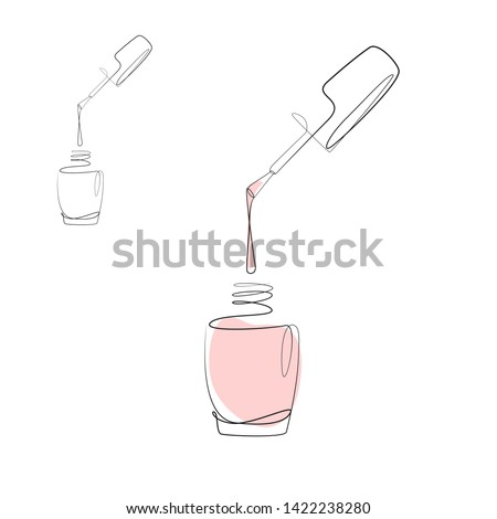 bottle of nail polish beauty hands trendy stylish colorful nai stock photo © serdechny