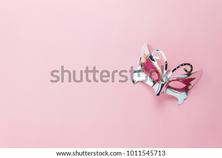 flat lay top view minimalist fashion and beauty photo delicate roses and perfume bottle on a whit stock photo © serdechny