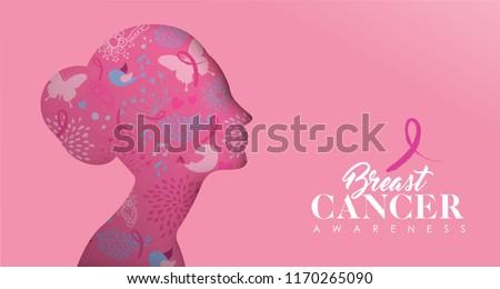 Câncer de mama consciência texto foto colagem composição digital Foto stock © wavebreak_media