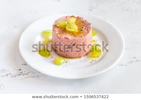 Portion of pate with fresh grapes Stock photo © Alex9500