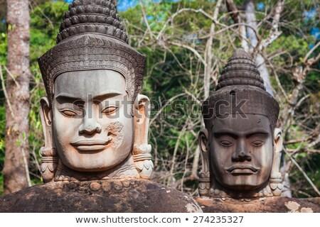 towers · храма · Ангкор · Камбоджа · лицах · один - Сток-фото © lichtmeister