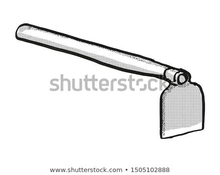 grub hoe Garden Tool Cartoon Retro Drawing Stock photo © patrimonio