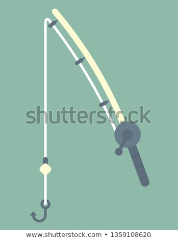 fishing rod vector flat icon stock photo © smoki