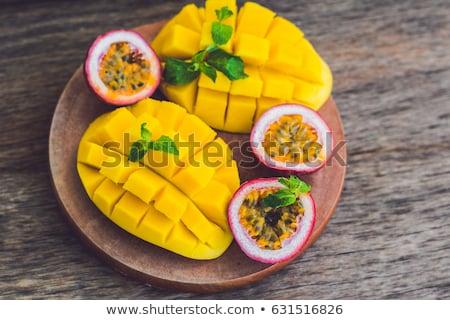 mango · passione · frutta · vecchio · legno · alimentare - foto d'archivio © galitskaya
