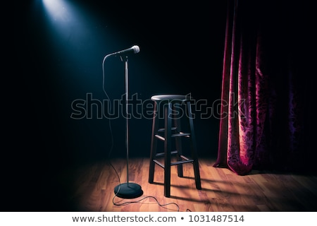 Stand up comedy show - microphone and stool in ray of spotlight  Stock photo © Winner