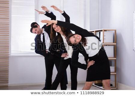 pracownik · biurowy · jogi · posiedzenia · szafka · medytacji - zdjęcia stock © andreypopov