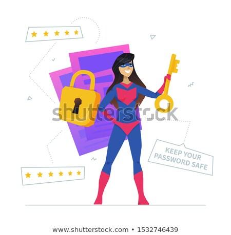 Utilisateur métaphore design style mot de passe sûr Photo stock © Decorwithme