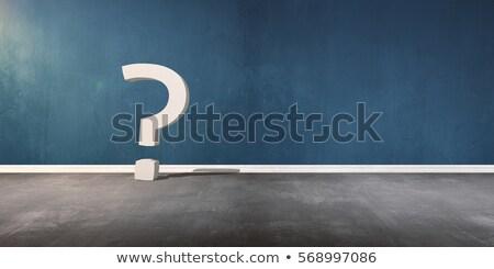 Uitroepteken vraagteken schaduw 3D illustratie Stockfoto © djmilic