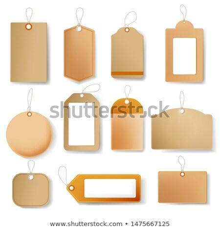 Címke címke négyszögletes forma szín vektor Stock fotó © pikepicture
