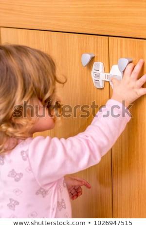 Child Proof Kitchen Cabinets Stock photo © AndreyPopov