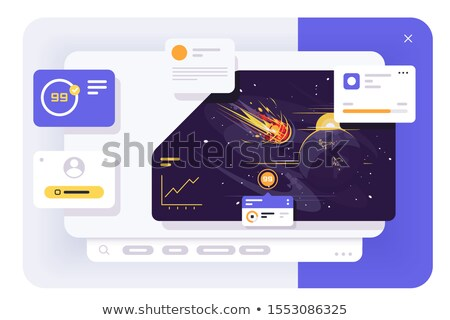 Comet ui dashboard Stock photo © jossdiim