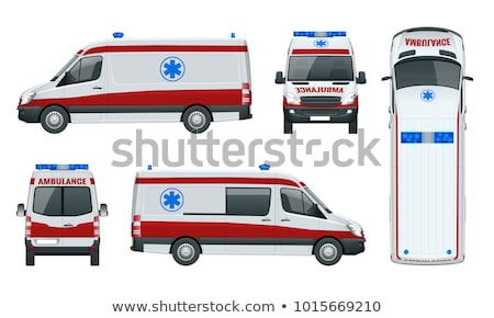 Paramedic and emergency doctor in front of ambulance Stock photo © Kzenon