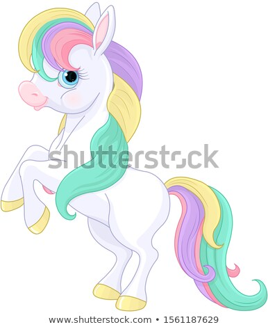 Rainbow Pony Rearing Up Stock photo © Dazdraperma