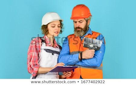 Couple of engineer workers Stock photo © jossdiim