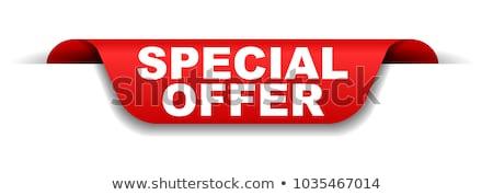Detalicznej promocji etykiety oferta specjalna wektora wstążka Zdjęcia stock © robuart