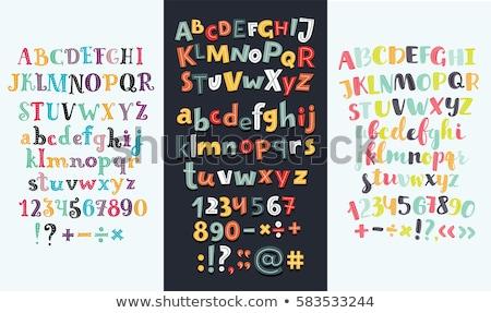 Angol ábécé levelek számok levél izolált Stock fotó © orensila