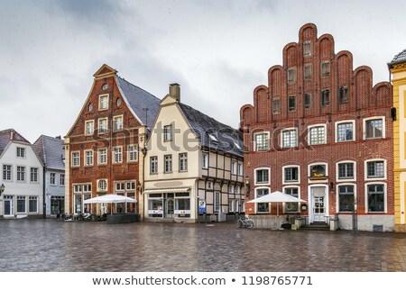 Historisch markt vierkante Duitsland mooie huizen Stockfoto © borisb17