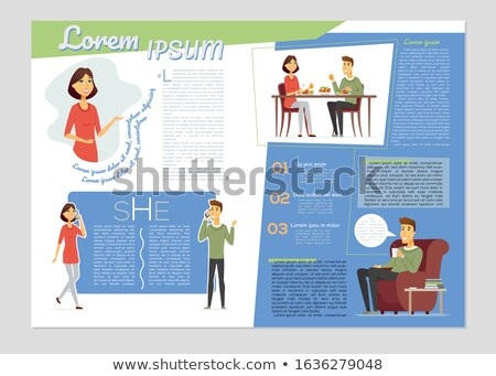 Everyday life, daily routine - colorful vector brochure template Stock photo © Decorwithme