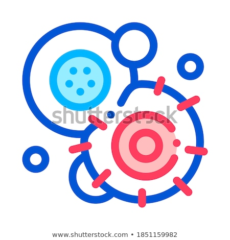 Cancerous Stem Cell Pathogen Element Vector Icon Stock photo © pikepicture
