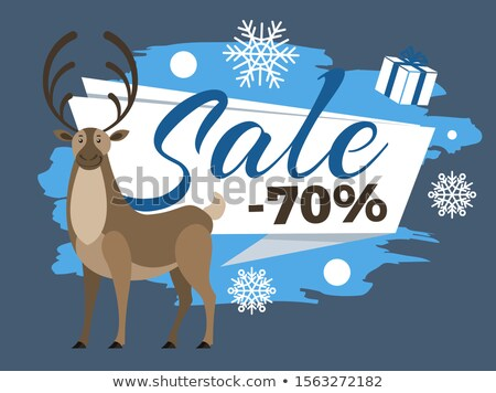 Sale 70 Percent Promotional Poster with Deer Stag Stock photo © robuart