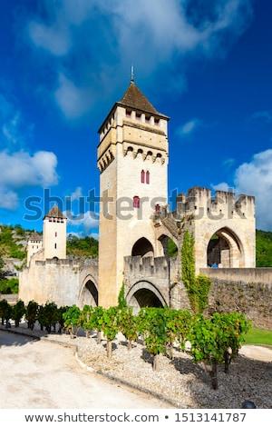 Frankrijk steen boog brug rivier Europa Stockfoto © borisb17
