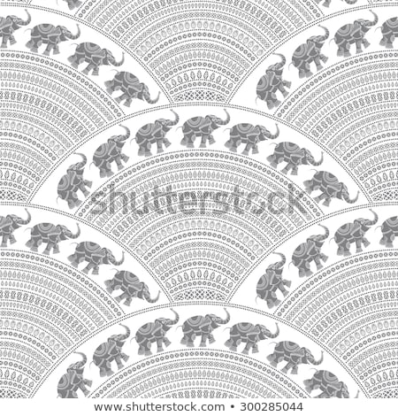 Seamless background stylized fishes 7 Stock photo © clairev