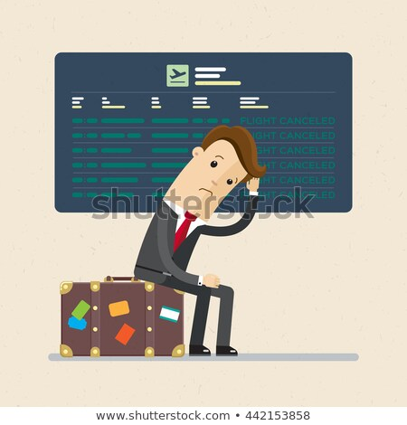 Upset Man In Airport. Flight Delay And Cancellation Stock photo © AndreyPopov