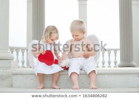 Angelo ragazze ragazzo Natale san valentino Foto d'archivio © robuart
