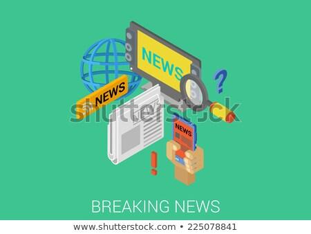 Masa mediów nowoczesne izometryczny wektora internetowych Zdjęcia stock © Decorwithme
