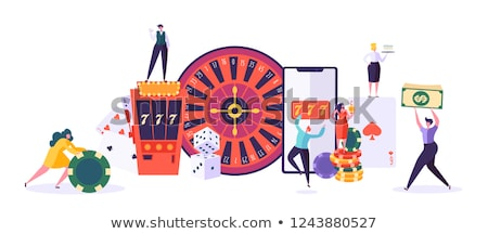 Casino Online, Fortune Wheel with Slots and Money Stock photo © robuart