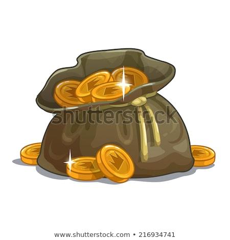 Reale bag monete d'oro soldi oro Foto d'archivio © robuart