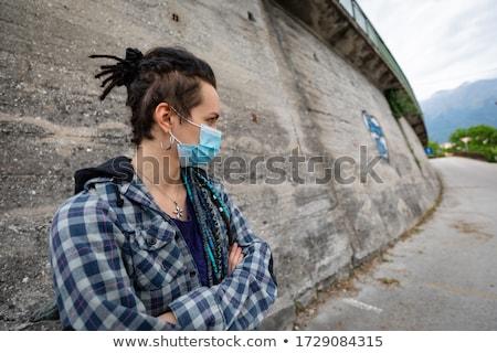 covid19 surviving urban warrior woman concept Stock photo © Giulio_Fornasar