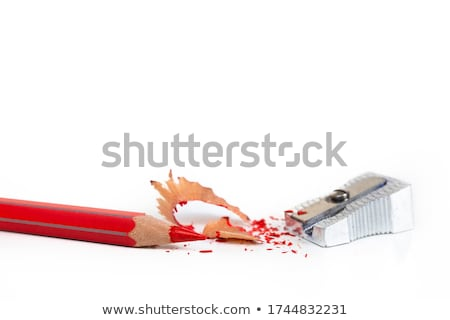 krijt · witte · papier · potlood · kunst · oranje - stockfoto © inxti