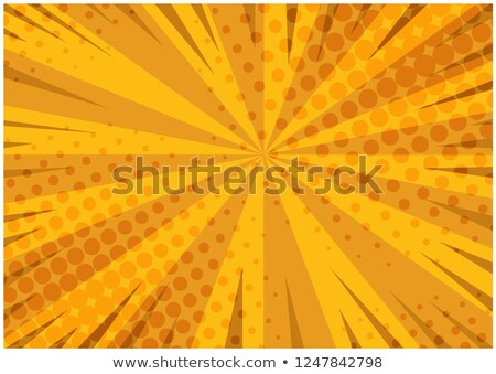 Boom. Comic book explosion bang on sunbeam striped background. Stock photo © designer_things