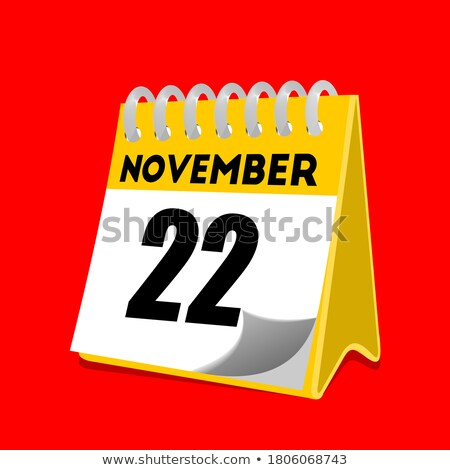 Simple black calendar icon with 22 november date isolated on white Stock photo © evgeny89