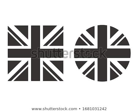 Banderą kraju naród wielka brytania flaga brytyjska czarno białe Zdjęcia stock © patrimonio